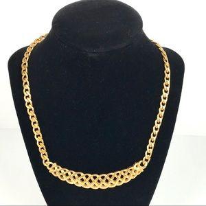 Vintage | Matte Gold Tone Necklace